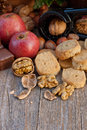 Nuts biscuits Stock Photography