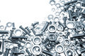 Nuts and bolts Royalty Free Stock Photos