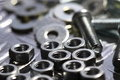 Nuts bolts washers D Royalty Free Stock Photo