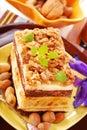 Nuts cake Royalty Free Stock Photo