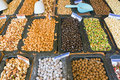 Nuts and cereals a variety of other sweets for sale at a market Royalty Free Stock Image