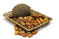 Nuts from different countries Royalty Free Stock Images