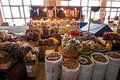 Nuts and dried fruits in the market