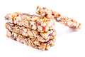 Nuts granola bars Royalty Free Stock Photo