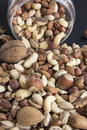 Nuts Mix, Abundance of Glass Jar Royalty Free Stock Photo