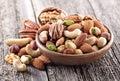Ořechy smíchat