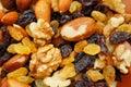 Nuts nad raisins Royalty Free Stock Photo