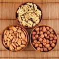 Nuts peeled Stock Images