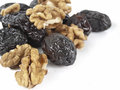 Nuts and prunes Stock Photos