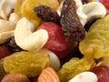 Nuts and raisins Royalty Free Stock Photo