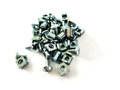 Nuts, screws and bolts closeup Royalty Free Stock Photo