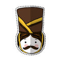 Nutscraker soldier isolated icon