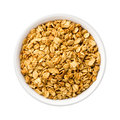 Nutty Granola in a ceramic bowl Royalty Free Stock Photo
