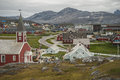 Nuuk capital of greenland buildings the Royalty Free Stock Photography