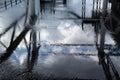 Nuvole ed acqua Immagine Stock Libera da Diritti