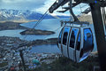 Ny queenstown för gondol horisont zealand Royaltyfri Bild