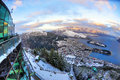Ny queenstown för lakeberg snow zealand Royaltyfri Bild
