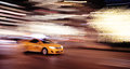 Ny taxi cab moving very fast Royalty Free Stock Image