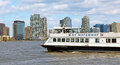 Ny waterway is a ferry service which transport passengers in the port of new york new jersey and in the hudson valley Royalty Free Stock Image