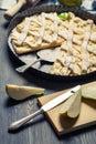 Nya ingredienser och pears för pie Royaltyfria Foton