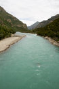 Nyang river the beautiful view of tibet china Royalty Free Stock Photography