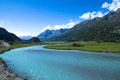Nyang river the of nyingchi tibet chia Royalty Free Stock Images
