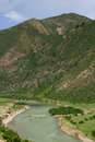 Nyang river the of nyingchi tibet chia Royalty Free Stock Photography