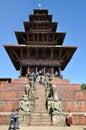 Nyatapola Temple at Bhaktapur Durbar Square Royalty Free Stock Images