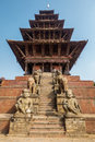 Nyatapola temple in Bhaktapur Royalty Free Stock Photo