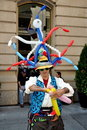 NYC: Balloon Man at French Festival Royalty Free Stock Photos