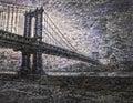 NYC Bridge Royalty Free Stock Photo