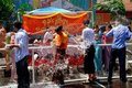 NYC: Burmese Water Festival Royalty Free Stock Photography