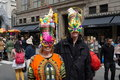 The nyc easter parade is an american cultural event consisting of a festive strolling procession on sunday typically it is a Stock Photography