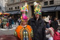 The nyc easter parade is an american cultural event consisting of a festive strolling procession on sunday typically it is a Royalty Free Stock Image