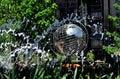 Nyc fontane e unisphere a columbus circle Fotografia Stock Libera da Diritti