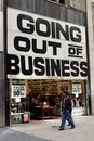 NYC: Going Out of Business Sign Royalty Free Stock Photo