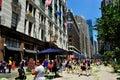 Nyc herald square pedestrian zone e macy Imagens de Stock