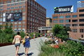 NYC: The High Line Park Stock Images