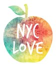 Nyc love illustration of an apple with a texture on it it reads it symbolizes new york city as the big apple Stock Image