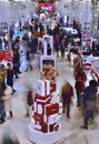 NYC Macys Herald Square Busy Shopping Floor People Buying Gifts