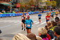 Nyc marathon along st avenue Stock Photo