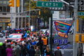 2014 NYC Marathon Mens Leader Pack Royalty Free Stock Photo