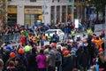 2014 NYC Marathon Mens Leader Pack Royalty Free Stock Photo