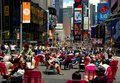 NYC: Pedestrian Mall at Times Square Royalty Free Stock Photos
