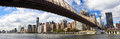 NYC Queensboro Bridge panorama Royalty Free Stock Photo