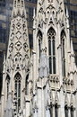 NYC:  St. Patrick's Cathedral Spires Stock Image