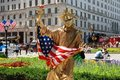 NYC: Statue of Liberty Mime Royalty Free Stock Photo