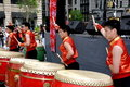 NYC: Taiwanese Drummers at Festival Royalty Free Stock Images