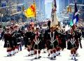 NYC: Tartan Day Parade Bagpipers Royalty Free Stock Photo