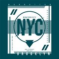 NYC TYPOGRAPHY GRAPHIC T SHIRT DESIGN